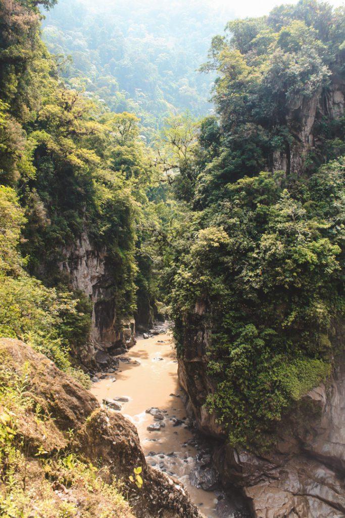 Pailon del Diablo waterfall Ecuador