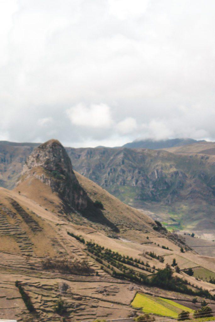 Road to Quilotoa Lake Ecuador