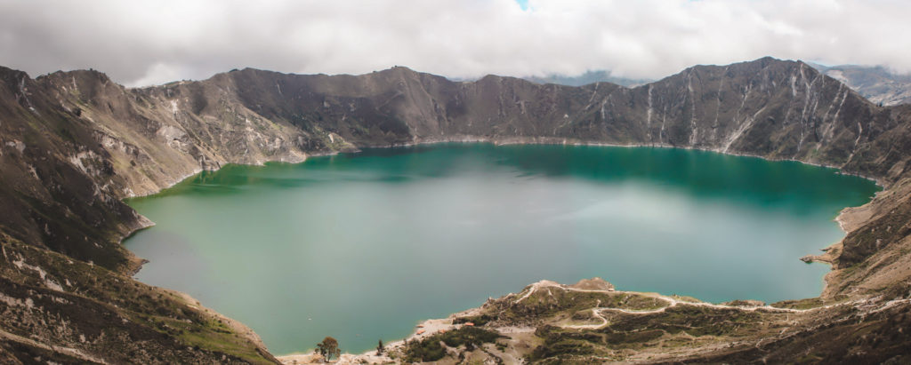 Quilotoa Lake panorama