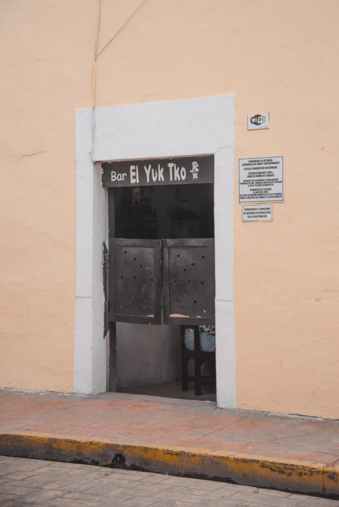 Colonial bars in Valladolid, Mexico