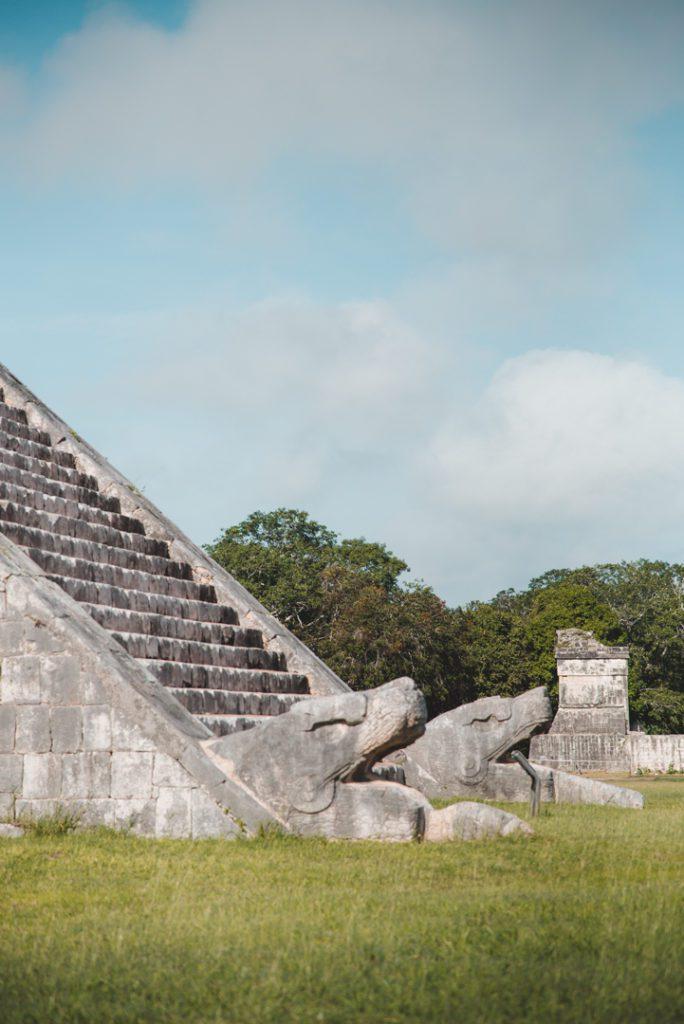 Chichen Itza main pyramid snakes