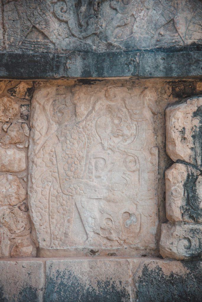 chichen itza carvings of a jaguar