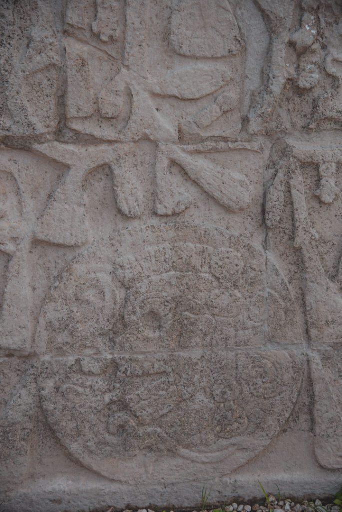 mayan carving details