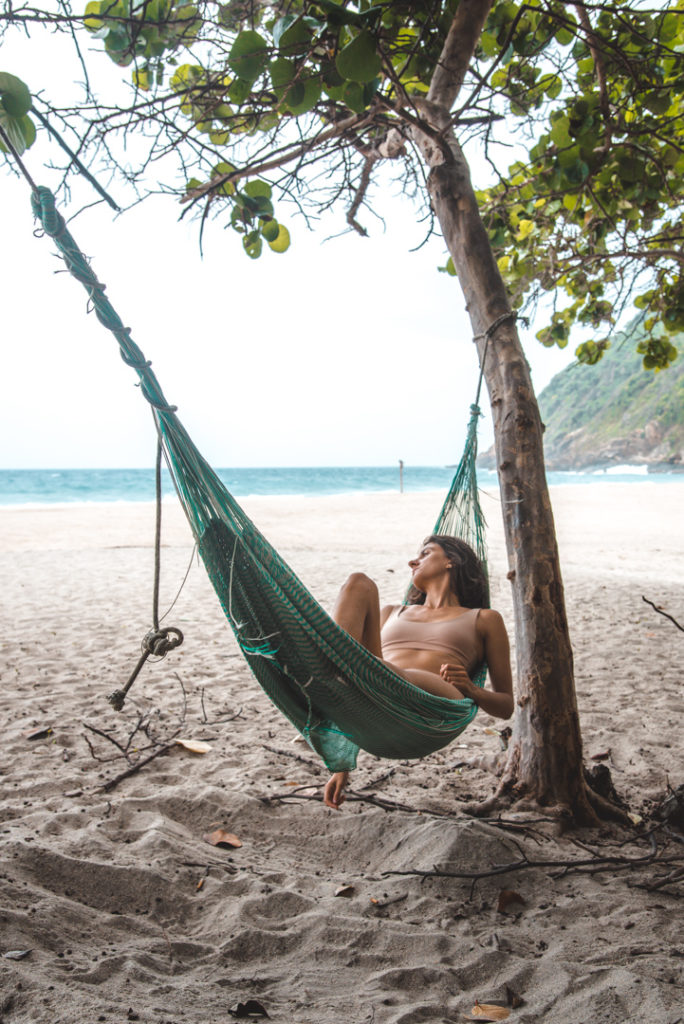 Chilling in a hammock in Tayrona NAtional Park