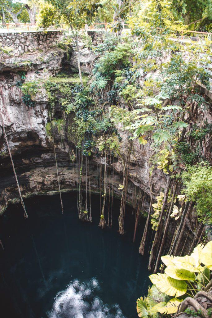 Cenote Oxman top view