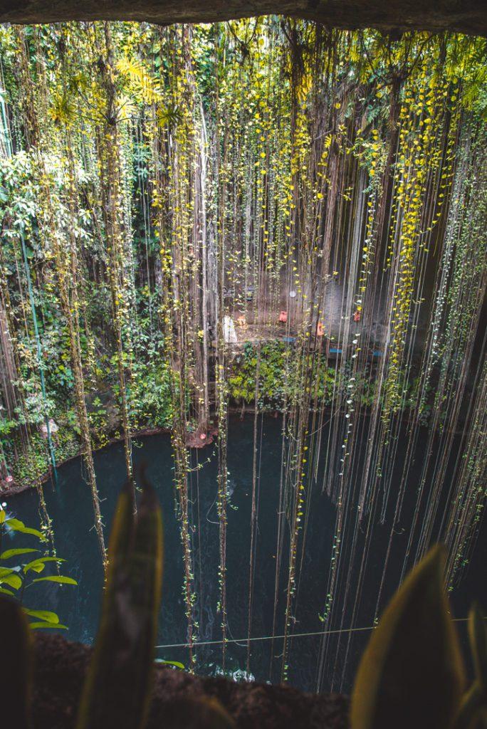 Cenote Ik-Kil from above