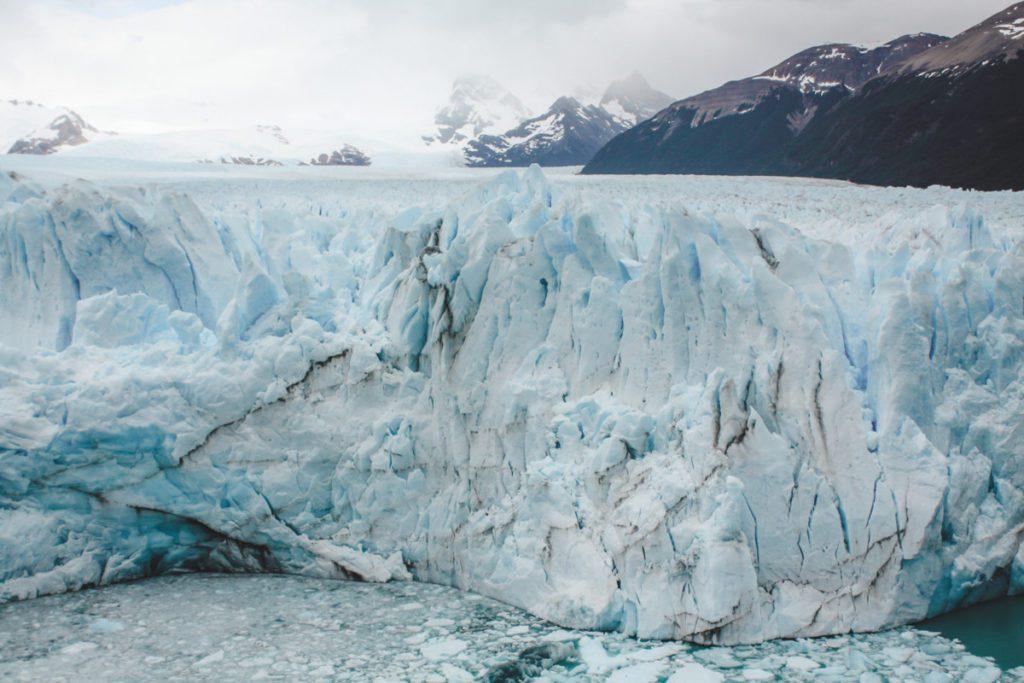 Ice wall glacier