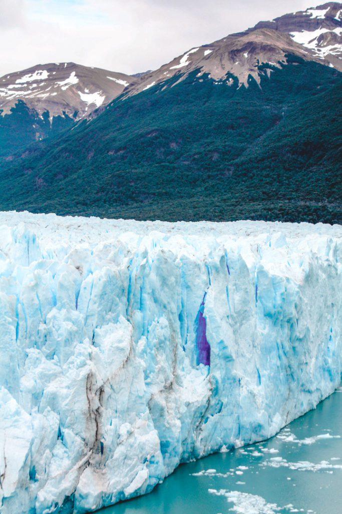 Close up of the Perito Moreno Glacier