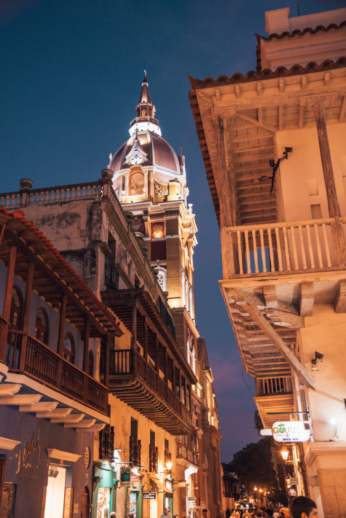 Night view of Cartagena colombia