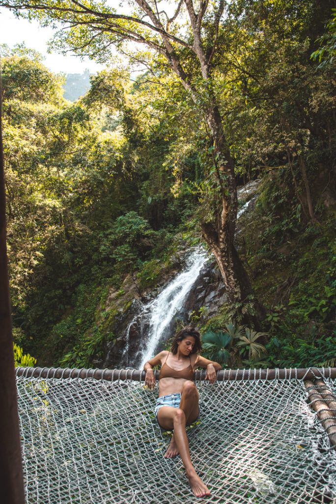 Hammock at Marinka Waterfall