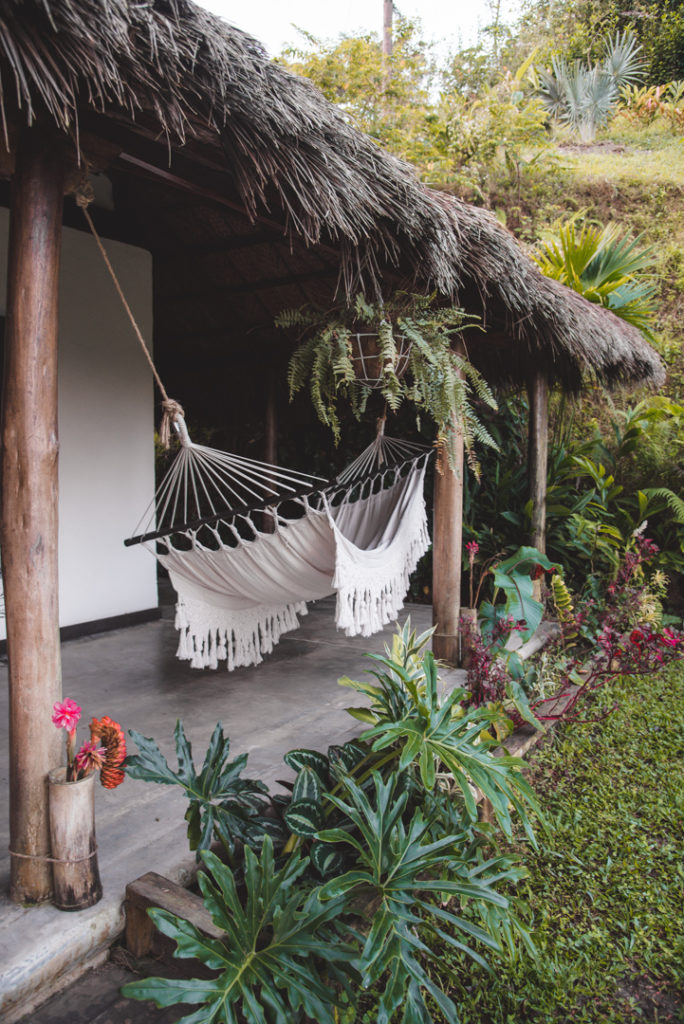 Beautiful hammock in a Minca hotel