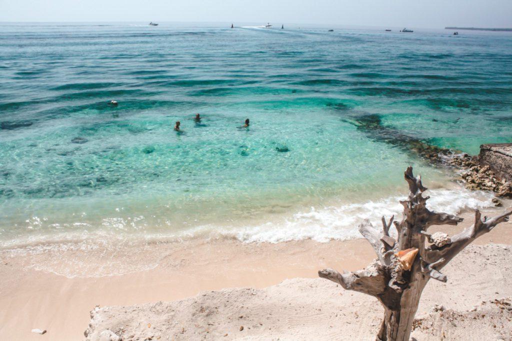 Pristine beach on Isla Grande Colombia