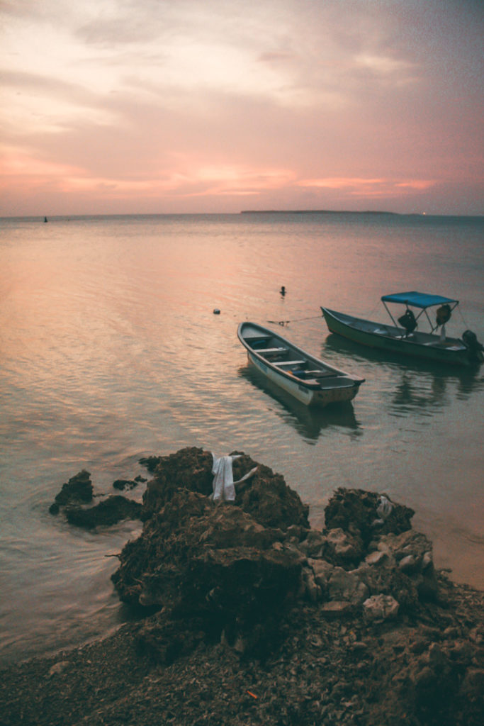 Sunset over Isla Grande Colombia