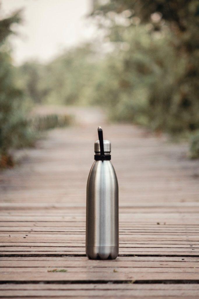 metalic reusable water bottle