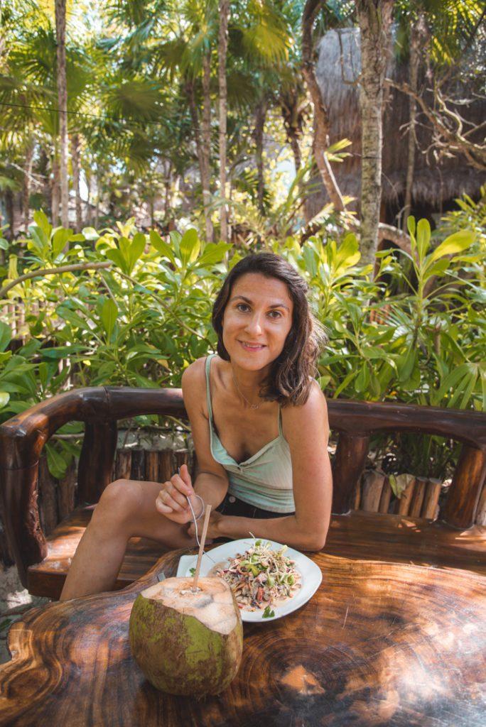 Vegan food at Raw Love in Tulum