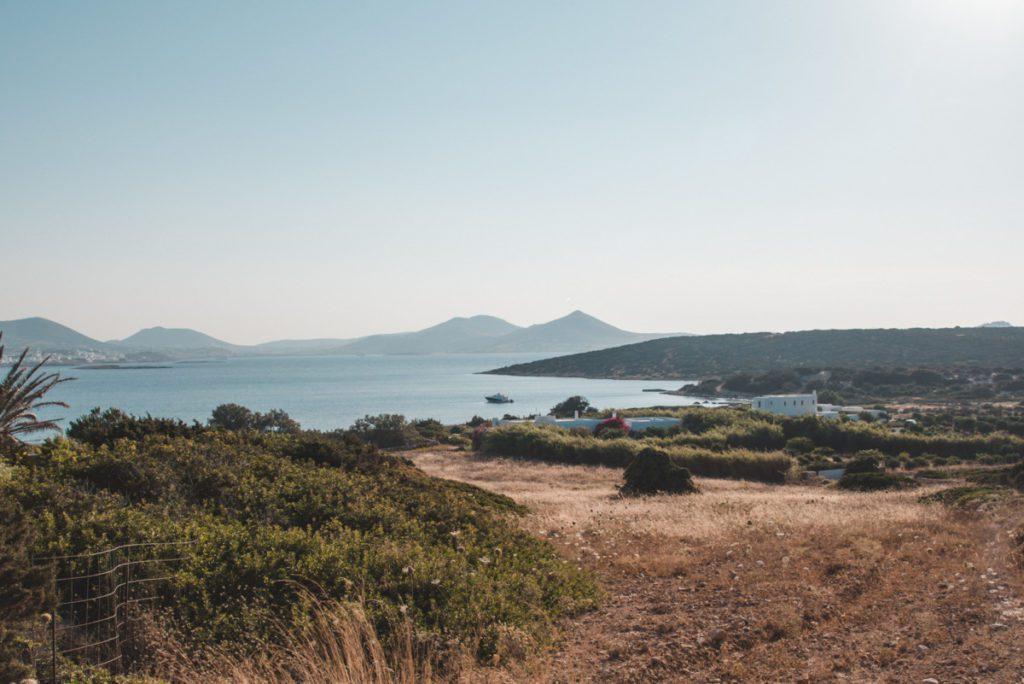 Walk down to Ligeri beach - best beaches on Paros.