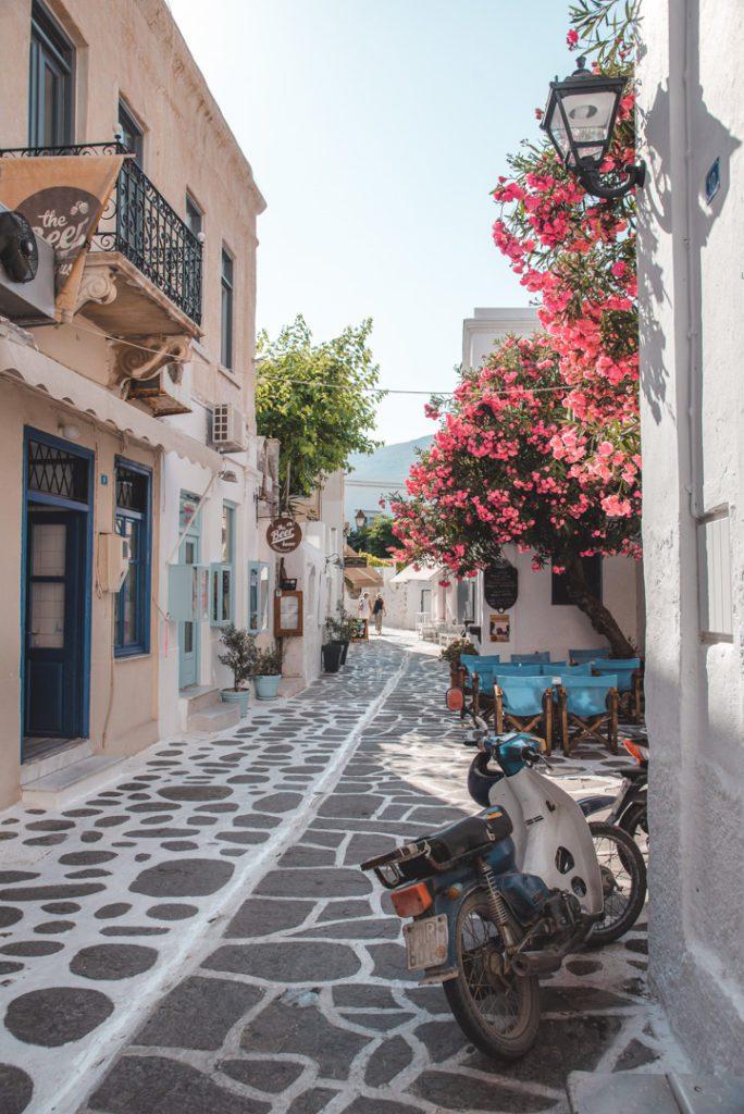 Streets of Parikia, Paros Greece