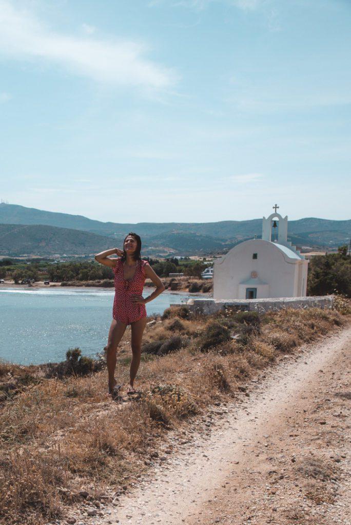 Greece church at Molos Beach Paros