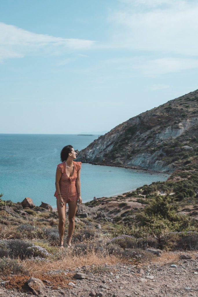 View of Kalogeros Beach Paros