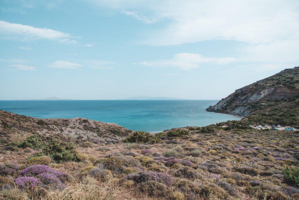 View of Kalogeros Beach, Paros.