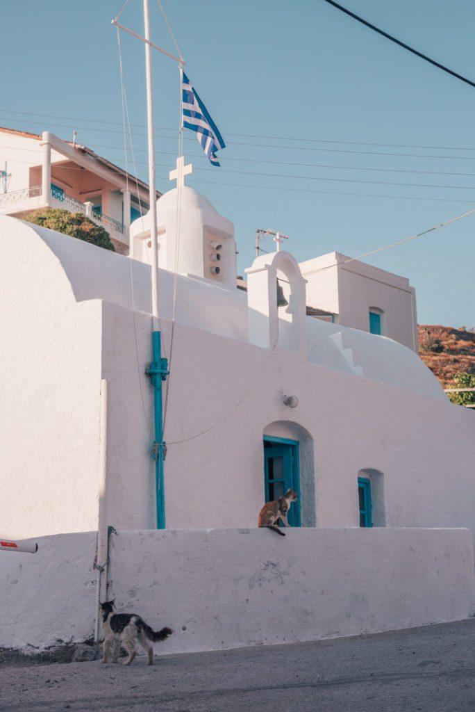 Church in Milos Greec