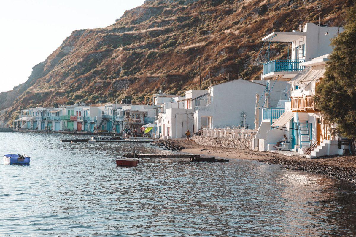 Klima village on Milos Greece