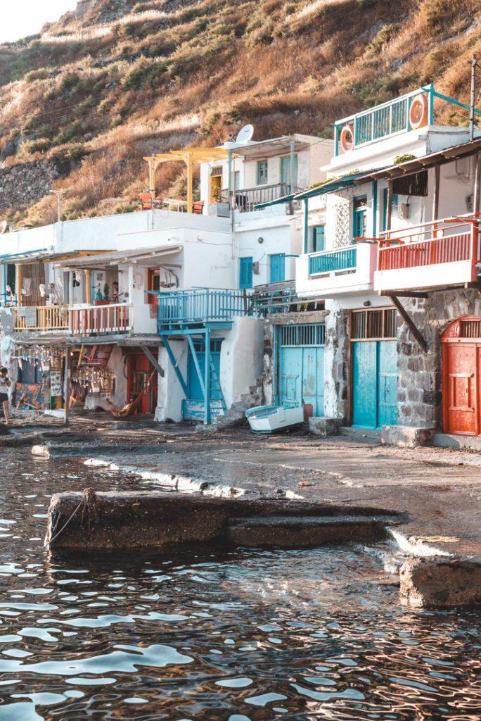 Colourful fishermen's houses in Klima Milos