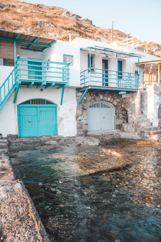 Boathouses in Klima Greece