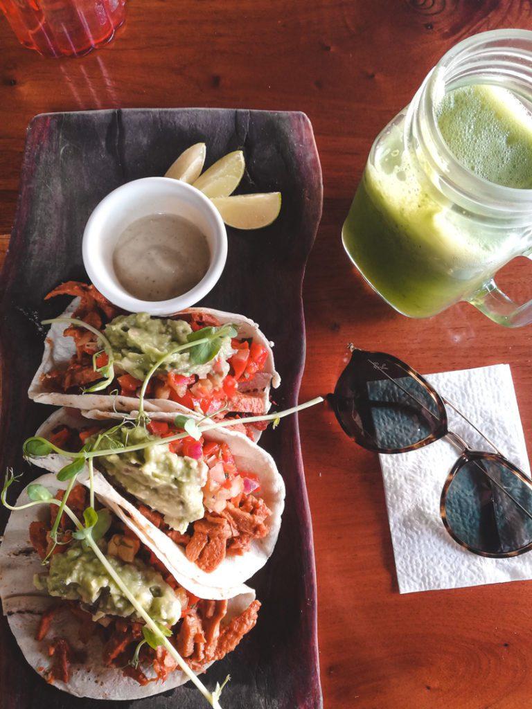 Vegan Tacos in La Hoja Verde, Tulum