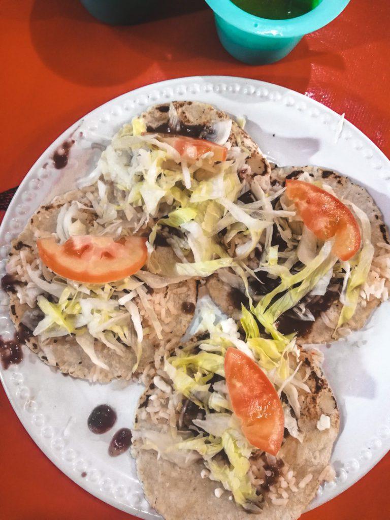 Mexican vegan tacos in Tulum