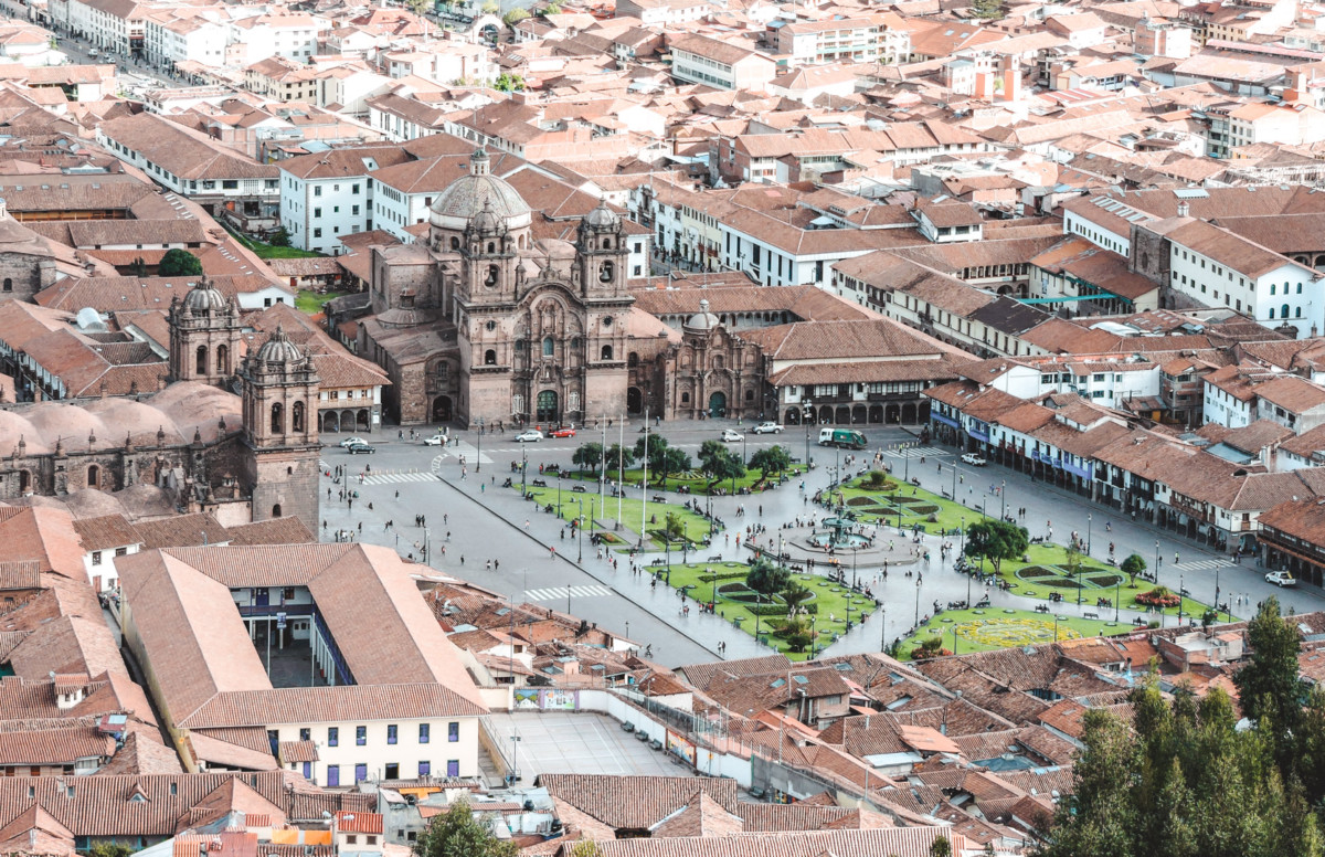 View of central cusco from Sacsayhuaman