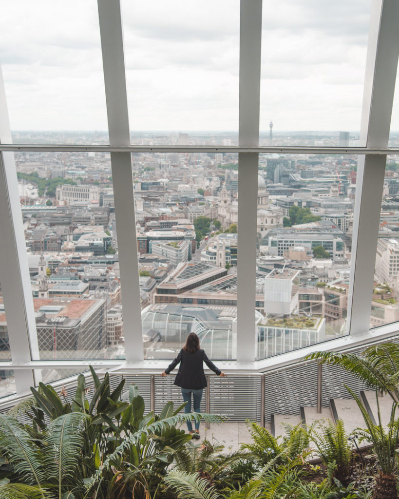 View from the Sky Garden london