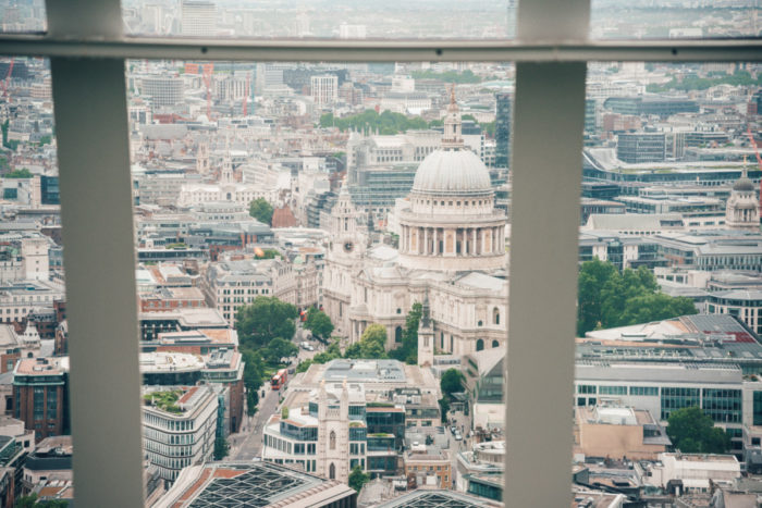 View of London from Sky Garden
