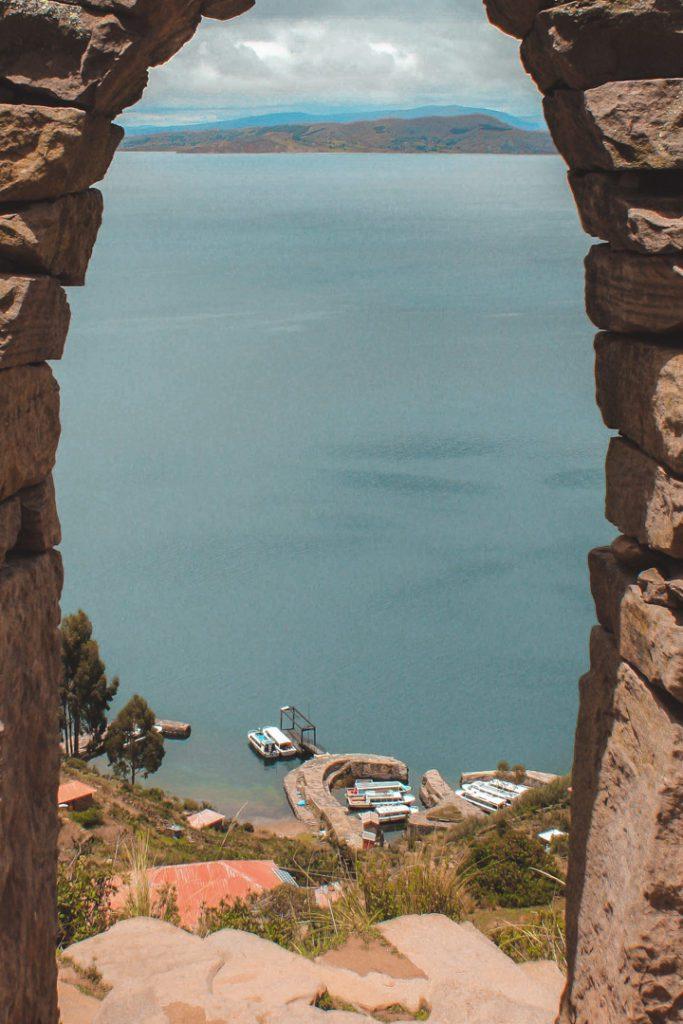 View at Taquile island Peru