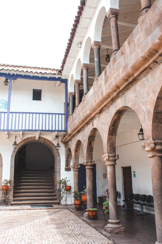Colonial buildings in Cusco Peru