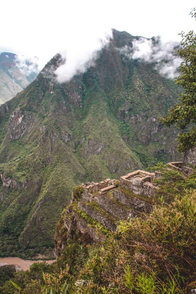 Machu Picchu ruins and mountains