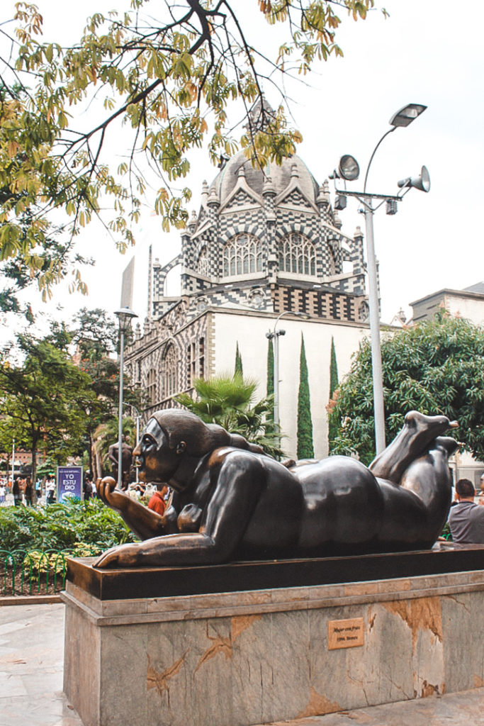 Botero statues in Medellin- best cities to visit in south america