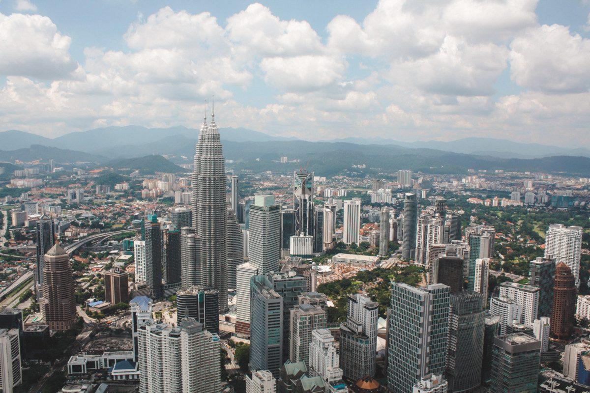 View of Kuala Lumpur skyline