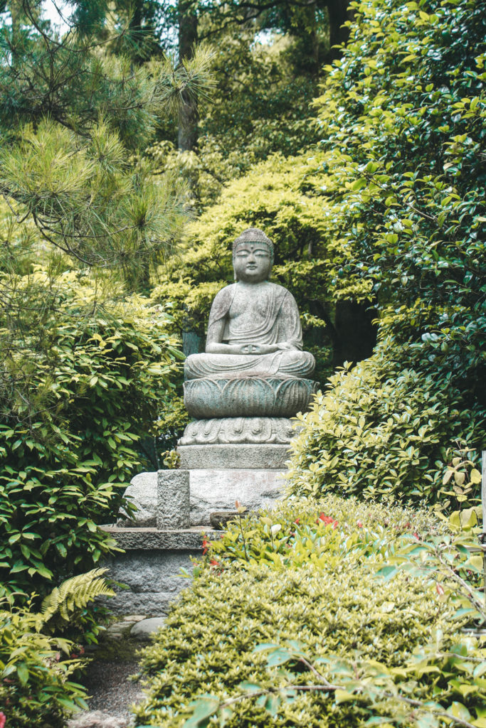 Buddha in Japanese Garden