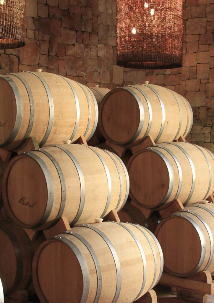 Barrels of pisco in Elqui Valley Chile