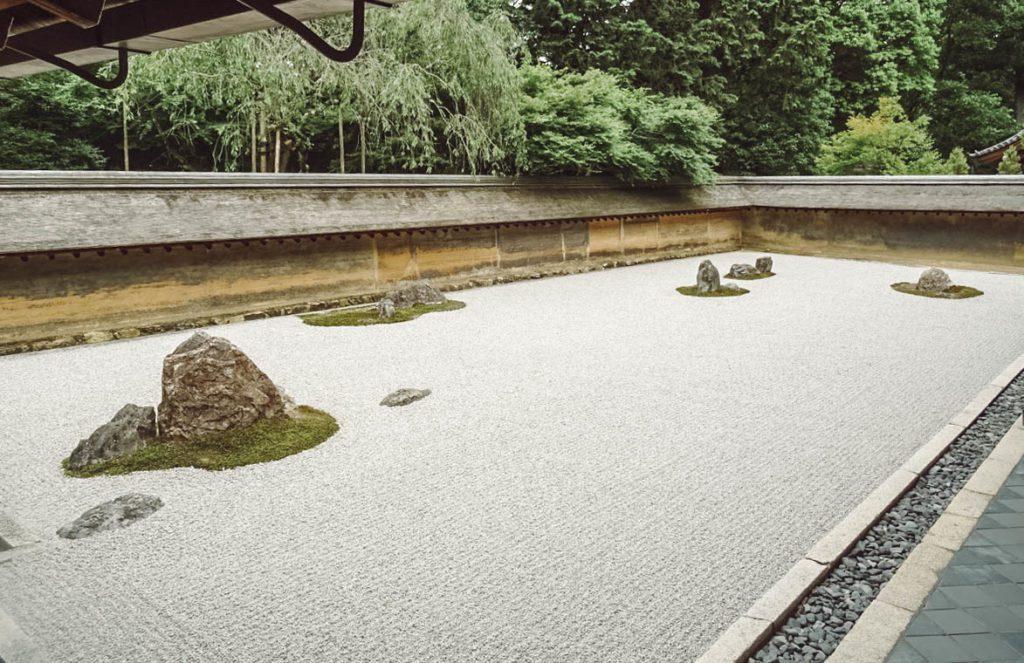 Ryōan-ji stone garden in Kyoto