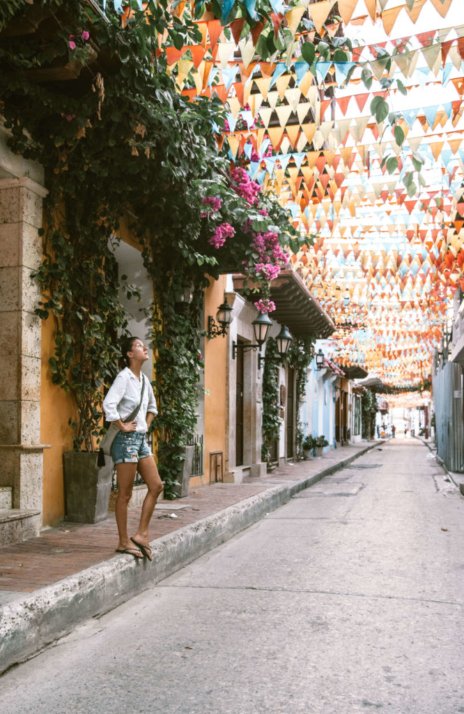 Woman on the streets of Getsemani Cartagena