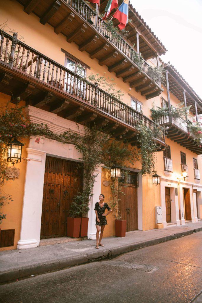 Old colonial building in Cartagena
