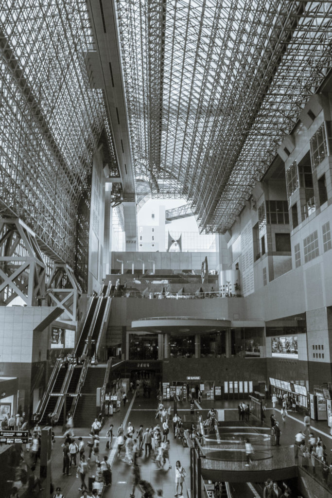 Kyoto train station from the inside