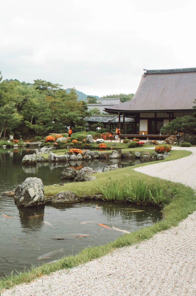 Tenryu-ji temple with japanese garden in Kyoto