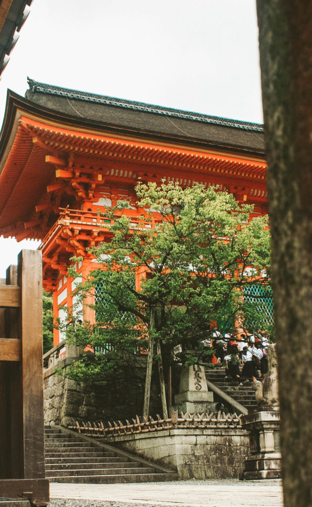 Deva gate of Kiyomizu-dera temple