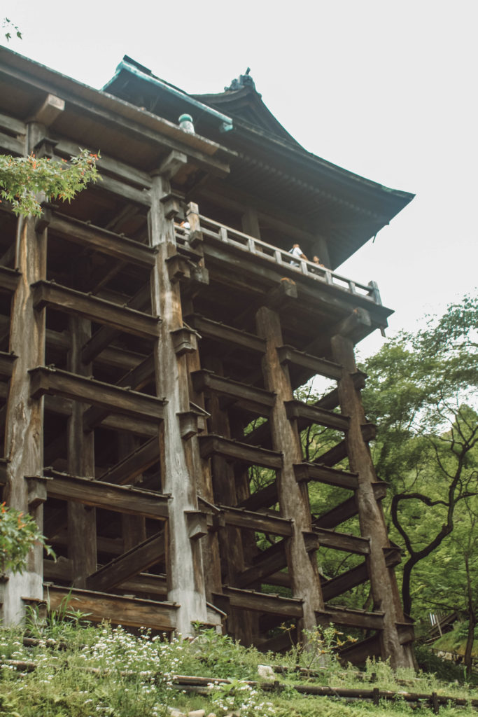 Kiyomizu-dera wooden veranda from below