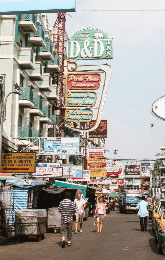 Khao San Road Bangkok during the day