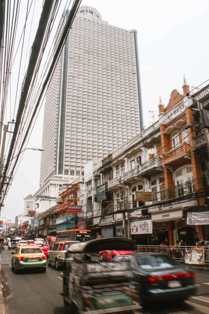 Busy street in Bangkok Thailand