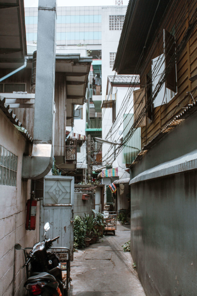 Back streets in Bangkok Thailand